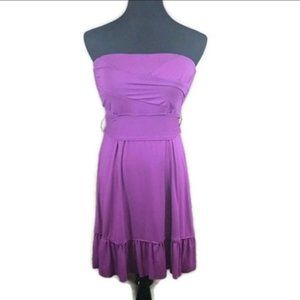 Free People Purple Strapless Halter Dress